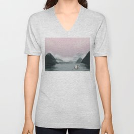 Early morning fishing Unisex V-Neck