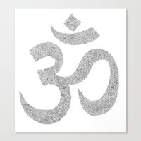 ohm Canvas Prints featuring OHM by KA Doodle