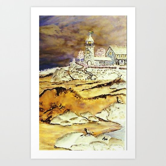 Brentons Lighthouse Ipod Cover by Ave Hurley Art Print