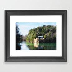 Cabin on the Lake Framed Art Print