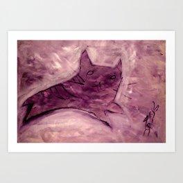 Cat Eat Dogfood? Art Print