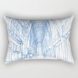 BluePrints | Brookfield Place Glass Arcade - Toronto Rectangular Pillow