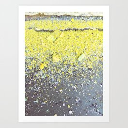 Chalk Dust Confetti - Yellow Art Print