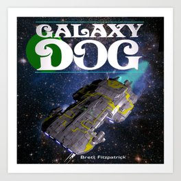 Galaxy Dog Art Print