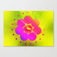 Mandala Pink Daisy Canvas Print