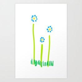 FORGET-ME-NOTS Art Print