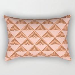 Triangular Lines in Terracotta and Blush Rectangular Pillow