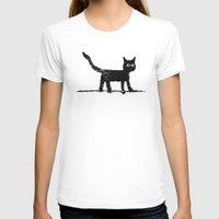 black cat T-shirts featuring Black Cat by Brontosaurus