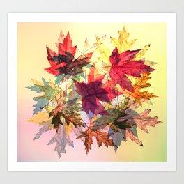 fallen leaves III Art Print