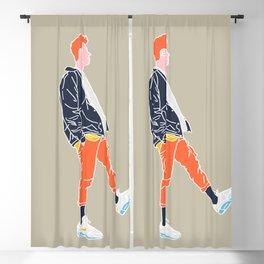 Orange Blackout Curtain