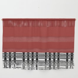Red Brick And Lace Wall Hanging
