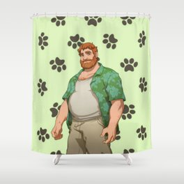 Dream Daddy: Brian Harding Shower Curtain