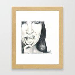 Vexed. Framed Art Print