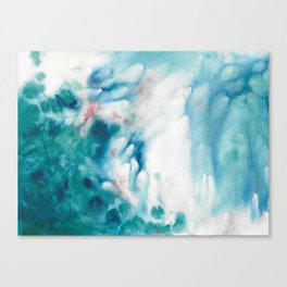Waves of turquoise Canvas Print