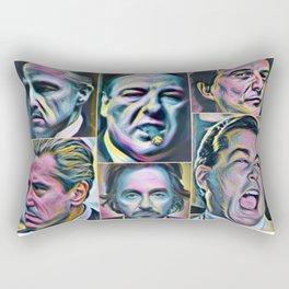 Gangsters painting movie Goodfellas Godfather Casino Scarface Sopranos Rectangular Pillow