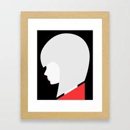 Red-Lipped Diva Framed Art Print