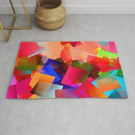 Play with transparent cubes and plates Rug