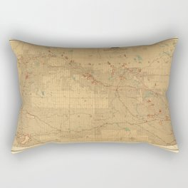 Canadian Mounted Police Map Rectangular Pillow