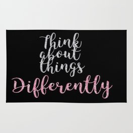 Think about things differently Rug