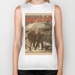 Vintage poster - The New Siberia Biker Tank