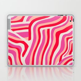 pink zebra stripes Laptop & iPad Skin