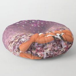 foxes under the stars Floor Pillow
