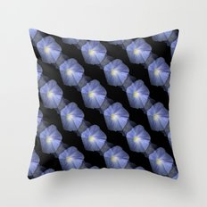 Morning Glory Illusion On Black Throw Pillow