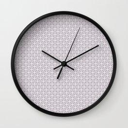 Simple light purple, white pattern. Wall Clock