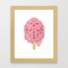 Popsicle brain melting Framed Art Print