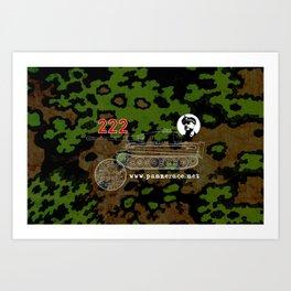 Michael Wittmann Panzer Ace 222 Villers Bocage Camo Art Print