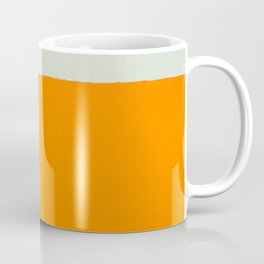 Orange and White Colors Painting Coffee Mug