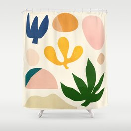 Abstraction_Floral_001 Shower Curtain