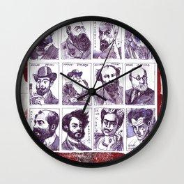 Portraits of artists Wall Clock