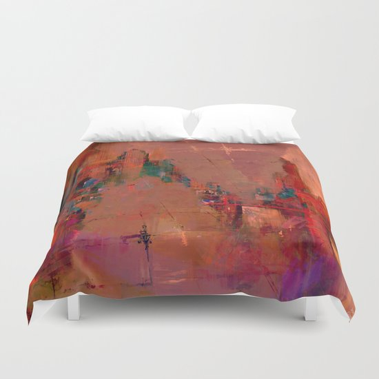 And the day begins Duvet Cover