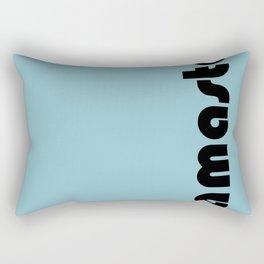Namaste in blue. Rectangular Pillow