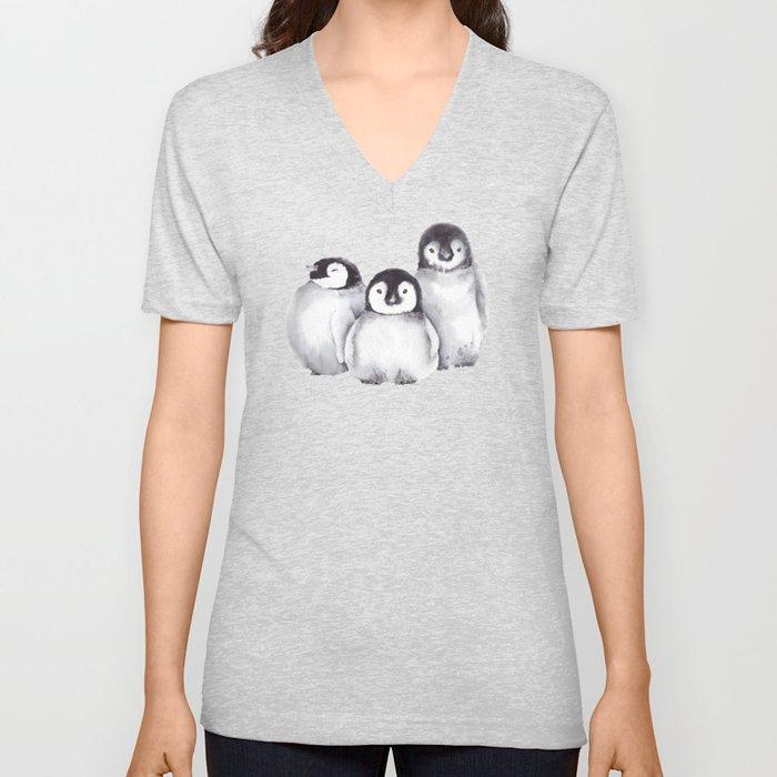 Baby Penguins Unisex V-Neck