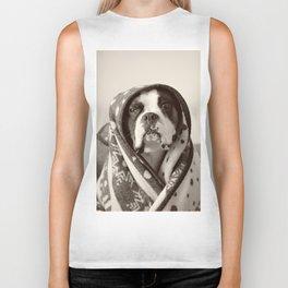 Obi Wan (Buck the world's most lovable boxer dog) Biker Tank