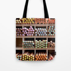 Coloured pencils Tote Bag