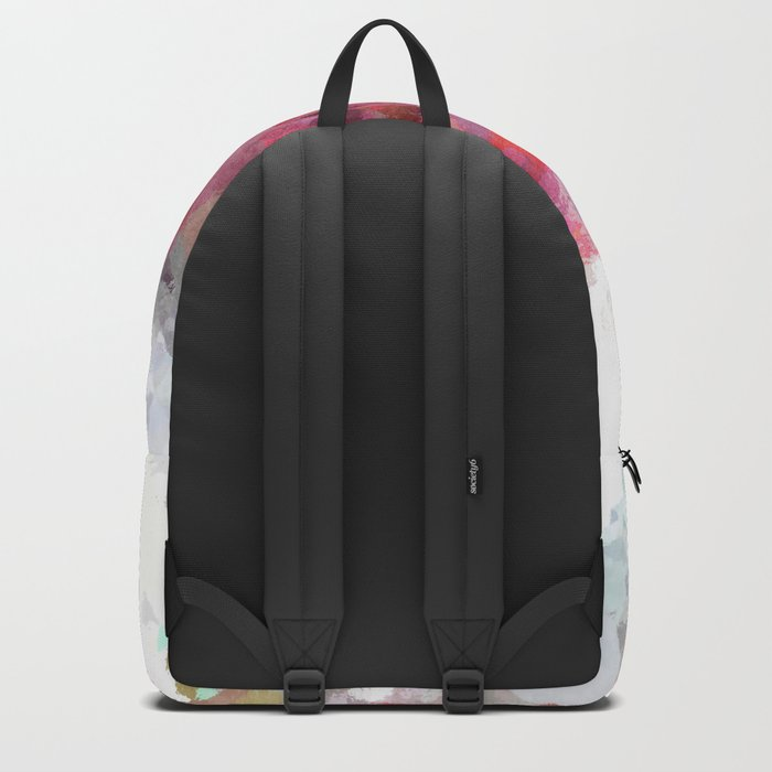 Pink white rosegold triangle pattern Backpack