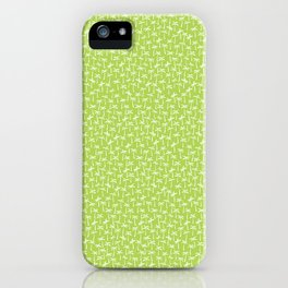palm trees on lime green iPhone Case