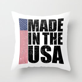 Made In The USA Perfect 4th of July Patriotic Gift Throw Pillow