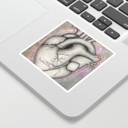 Persephone Is Rising anatomical heart Sticker