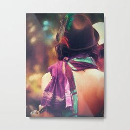 Festival Style | Feathered Hat Metal Print