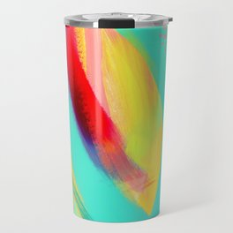 Be Proud, Be OK - tropical colorful brush summer modern abstract Travel Mug