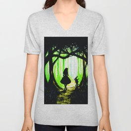 alice and rabbits Unisex V-Neck