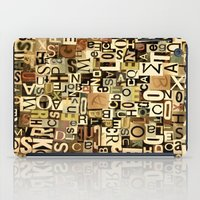 alphabet iPad Cases featuring Alphabet by Kerri Swayze