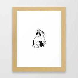 Panda Puff Framed Art Print