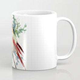 Cardinal Bird Artwork, female cardinal bird Coffee Mug