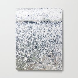 Chalk Dust Confetti Black & White Metal Print