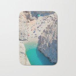 Seitan Limania Beach by Drone Bath Mat